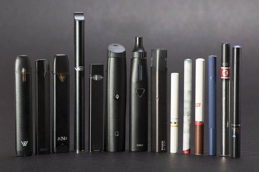 A+display+of+different+vaping+devices.+Photo+courtesy+of+Sarah+Johnson