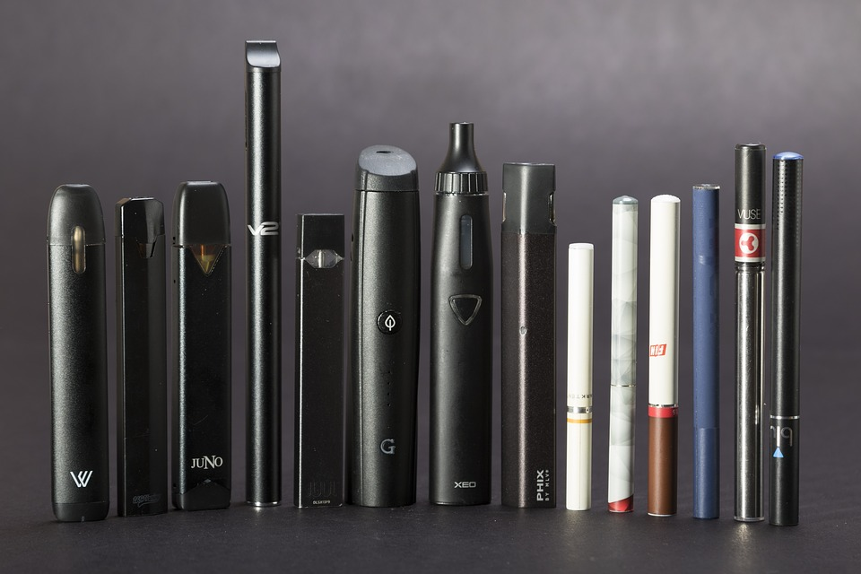 A display of different vaping devices. Photo courtesy of Sarah Johnson