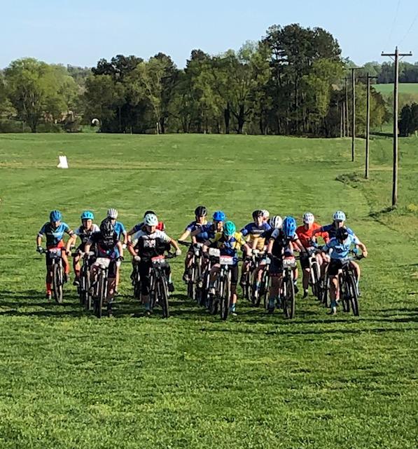 The+mountain+biking+team+races.+Photo+taken+by+Connor+Jackson.