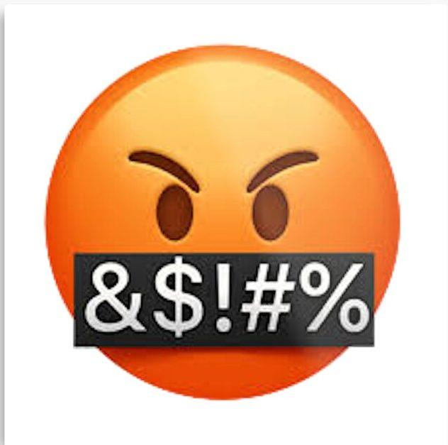 The Cursing Emoji representing the cursing mentality present a CHS