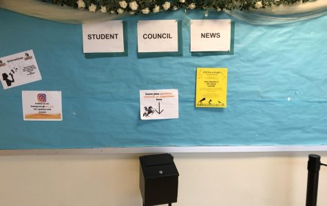 Student Council News Board and Suggestion Box Located in the Atrium