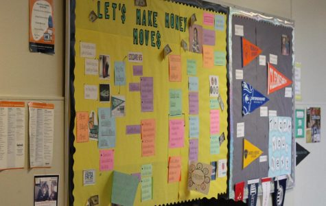 The CHS post-high school wall showcases some of the different options for after high school.