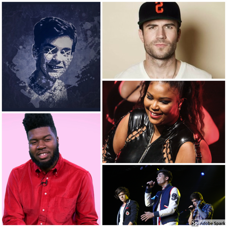 The top five artists featured in this weeks article.