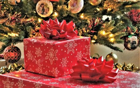 A stack of presents during the holidays