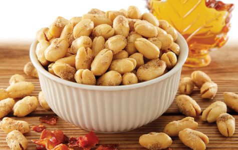 Some very delicious bacon maple Virginia peanuts ready to be eaten.