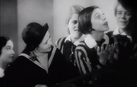 Left: protagonist, Manuela; Right: supporting character, Ilse in a frame from the film