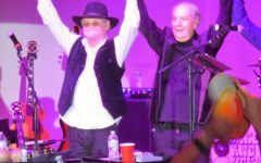 Micky Dolenz and Michael Nesmith at one of their shows.