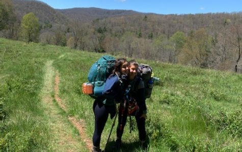 My sister, Annika, and me in southern Virginia on the Appalachian Trail
