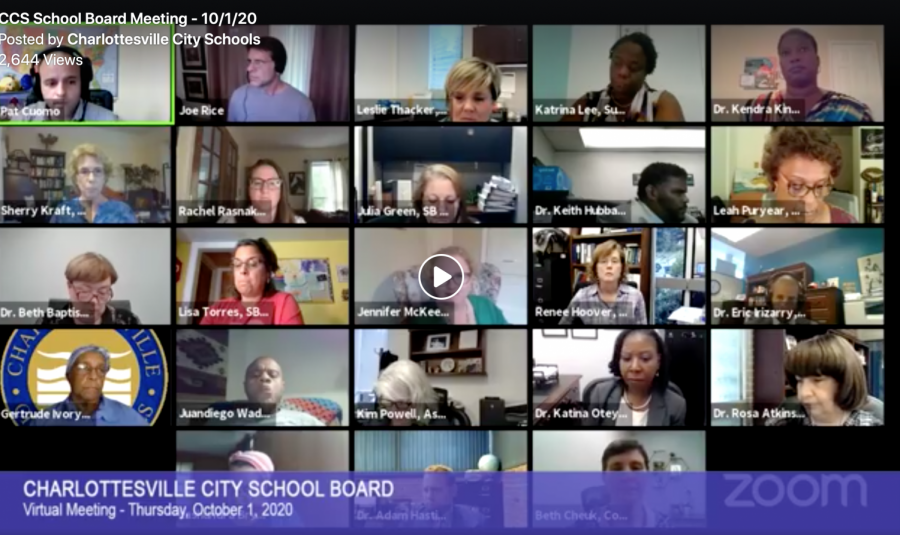 A Virtual School Board meeting that took pace over Zoom, October 1st