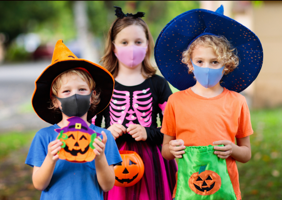 Masks while trick-or-treating!