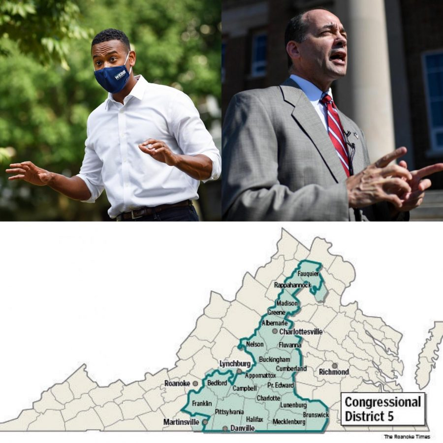 In the past Congressional race in Virginia's 5th District, Republican Bob Good defeated Democrat Cameron Webb by 6% of the vote.