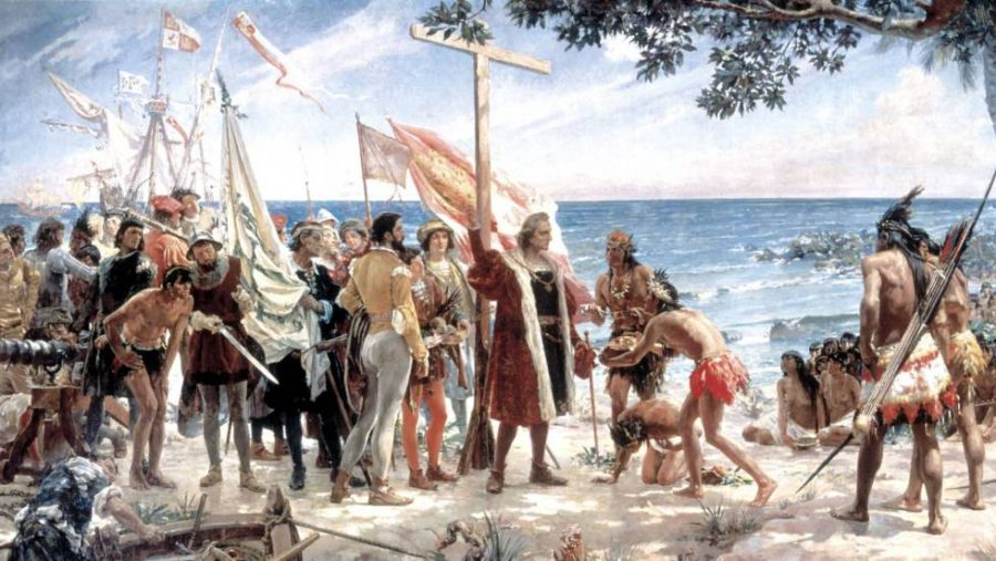 Christopher Columbus forced native americans accept christianity against their will.