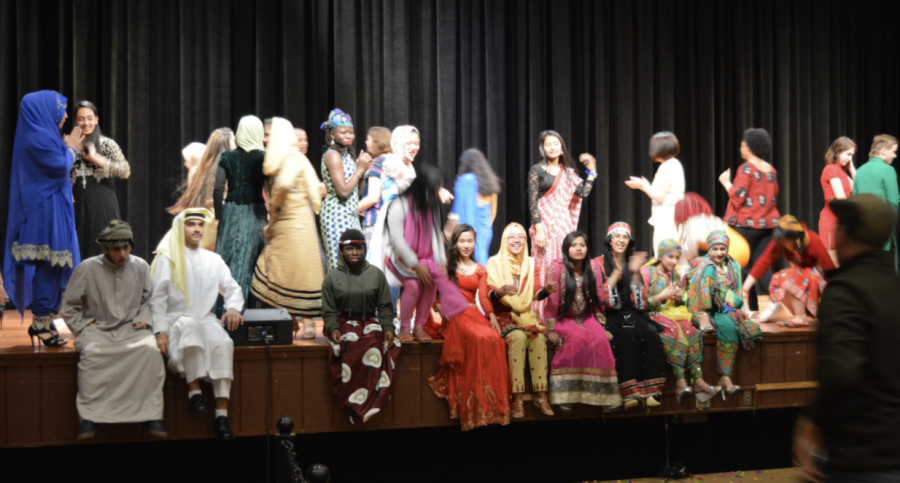 ESL Students at CHS displaying traditional clothing at last year's Diversity Assembly.