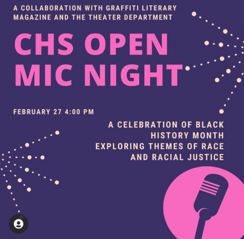 CHS Open Mic Night Showcases Black Student Voices